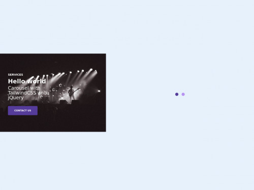 tailwind Carousel Slider with TailwindCSS and jQuery